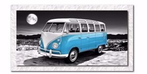 Picture of MANIE WALL ARTWORK VOLKSWAGEN VAN 140X70 PRINT ON CANVAS GLOSSY WHITE FRAME