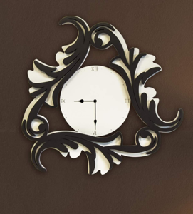 Picture of LAS CONTEMPORARY WALL CLOCK 90X90 MDF WHITE BROWN
