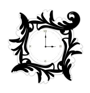 Picture of LAS CONTEMPORARY WALL CLOCK 90X90 MDF WHITE BLACK